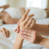 hand massage body care and spa treatments at beauty spa salon